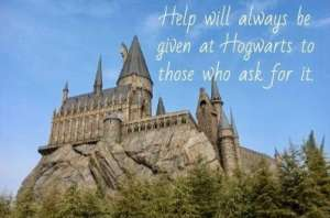 Hogwarts with words